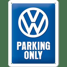 Postershop Plechová tabuľa 15x20 cm VW Parking Only