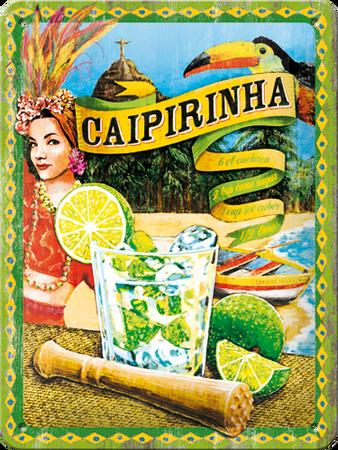 Postershop okrasna tabla Caipirinha 15 x 20 cm