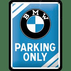 Postershop Plechová cedule 15x20 cm BMW Parking Only (modrá)