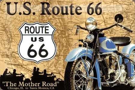 Postershop ukrasna tabla U.S. Route 66 20 x 30 cm