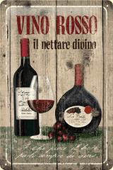 Postershop Plechová tabuľa 20x30 cm Vino Rosso