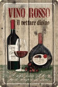 Postershop okrasna tabla Vino Rosso 20 x 30 cm