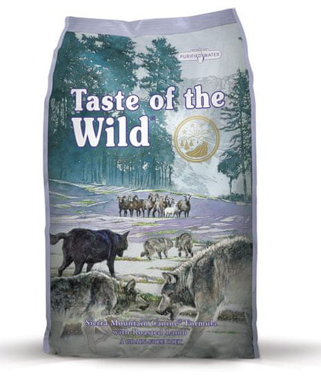 Taste of the Wild Sierra Mountain hrana za pse, pečena jagnjetina, 2 kg