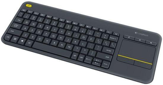 Logitech Wireless Touch Keyboard K400 Plus CZ čierna (920-007151)