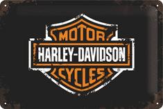 Postershop Plechová tabuľa 20x30 cm Harley-Davidson Logo