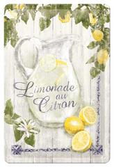 Postershop Plechová cedule 20x30 cm Limonade au Citron