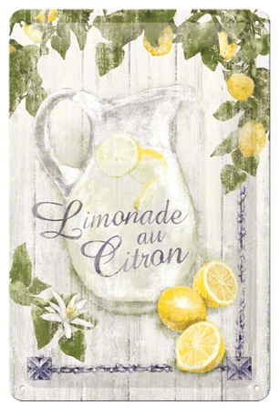 Postershop okrasna tabla Limonade au Citron 20 x 30 cm