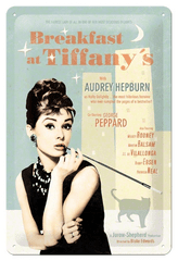 Postershop Metalowa tabliczka Breakfast at Tiffany's - Audrey Hepburn