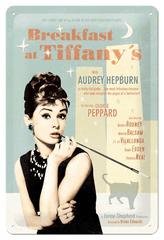 Postershop Plechová tabuľa 20x30 cm Breakfast at Tiffanys - Audrey Hepburn