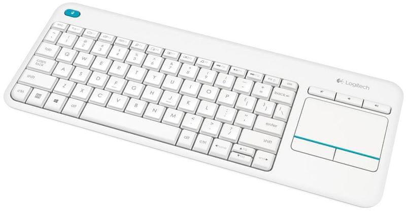 Logitech Wireless Touch Keyboard K400 Plus US bílá (920–007146)