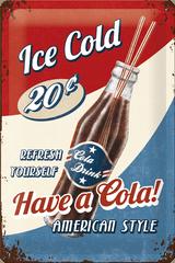 Postershop Plechová cedule 20x30 cm Ice Cold