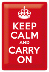 Postershop Plechová cedule 20x30 cm Keep Calm and Carry On