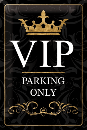 Postershop okrasna tabla VIP Parking Only 20 x 30 cm