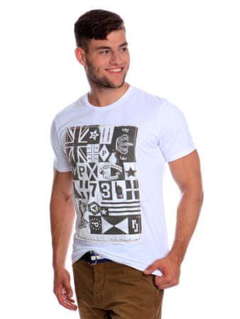 49d9ae443b7 Pepe Jeans pánské tričko Curtis s potiskem M bílá
