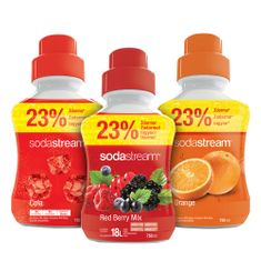 Sodastream Sada Orange/Rer Ber/Cola 750 ml