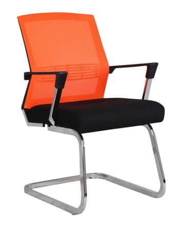 Konferenčni stol Viki, oranžen