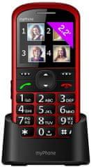 myPhone telefon dla seniora HALO 2 czerwony