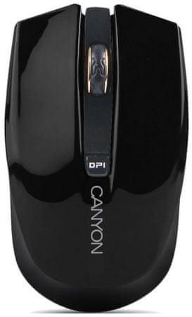 Canyon brezžična optična miška CNS-CMSW5B, 800/1600 dpi, črna