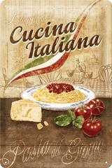 Postershop Plechová tabuľa 20x30 cm Cucina Italiana