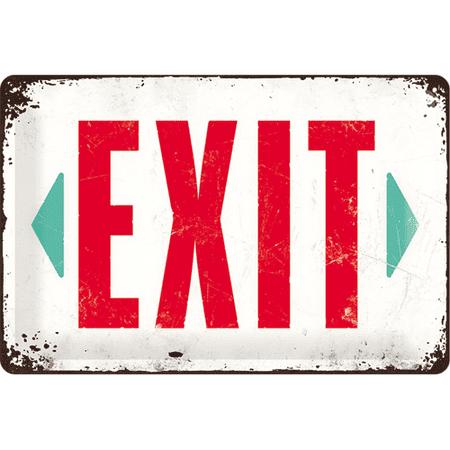Postershop Metalowa tabliczka Exit