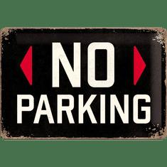 Postershop Plechová tabuľa  20x30 cm No Parking (čierna)