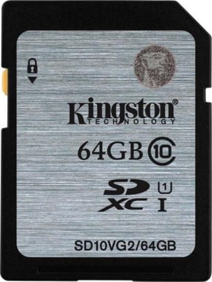 Kingston SDXC 64GB 45MB/s UHS-I (SD10VG2/64GB)