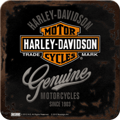 Postershop Sada 5ks plechových tácků Harley-Davidson Genuine