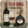 1 - Postershop set podstavkov Vino Rosso, 5 kos
