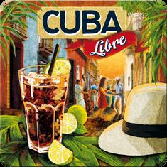 Postershop Sada 5ks plechových tácok Cuba Libre