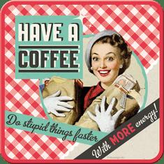 Postershop set podstavkov Have A Coffee, 5 kos