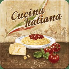 Postershop Sada 5ks plechových tácok Cucina Italiana