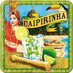 Postershop Sada 5ks plechových tácků Caipirinha