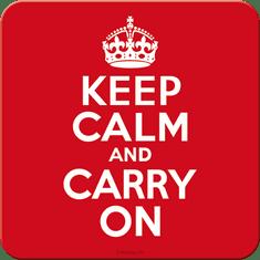 Postershop Sada 5ks plechových tácok Keep Calm and Carry On