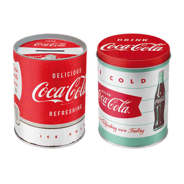 Postershop Sada kasička a kruhová dóza Coca-Cola