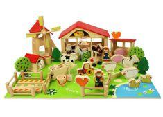 Bigjigs Toys Veľká drevená farma