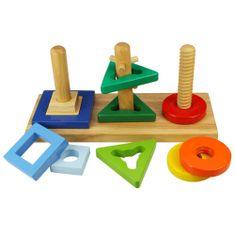 Bigjigs Toys Drewniany sorter na patyczkach BJ376