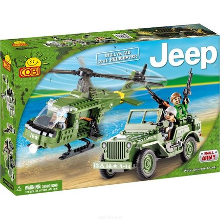 Cobi kocke Jeep Willys MB with Helicopter