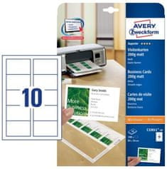 Avery Zweckform papir za vizitke C32011-10, 85 x 54 mm