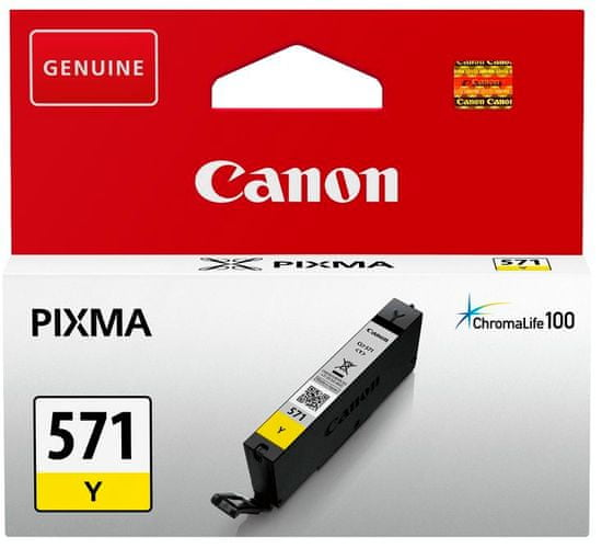 Canon kartuša 571, rumena (CLI-571Y)