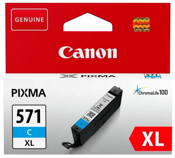 Canon CLI-571C XL (0332C001), azurový