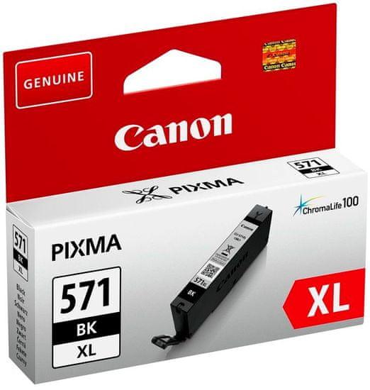 Canon kartuša 571 XL, črna (CLI-571BK)