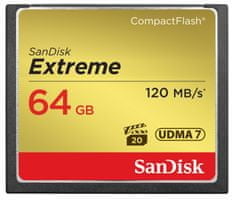 SanDisk Compact Flash kartica Extreme CF 64 GB (120 MB/s)