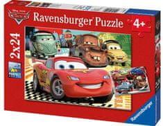 Ravensburger Cars noví priatelia 2x24 dielikov