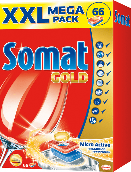 Somat Gold tablety do myčky 66 ks