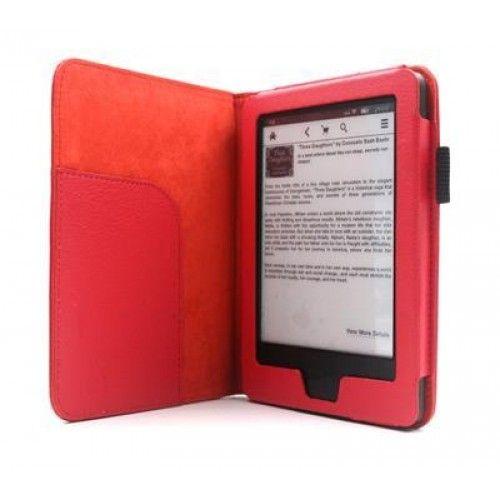 C-Tech PROTECT pouzdro pro Amazon Kindle 6 TOUCH, AKC-08R, červené