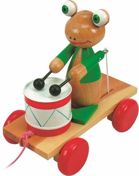 Woody Tahací žába s bubnem
