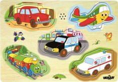 """Woody Muzikálne puzzle """"Dopravné prostriedky"""""""
