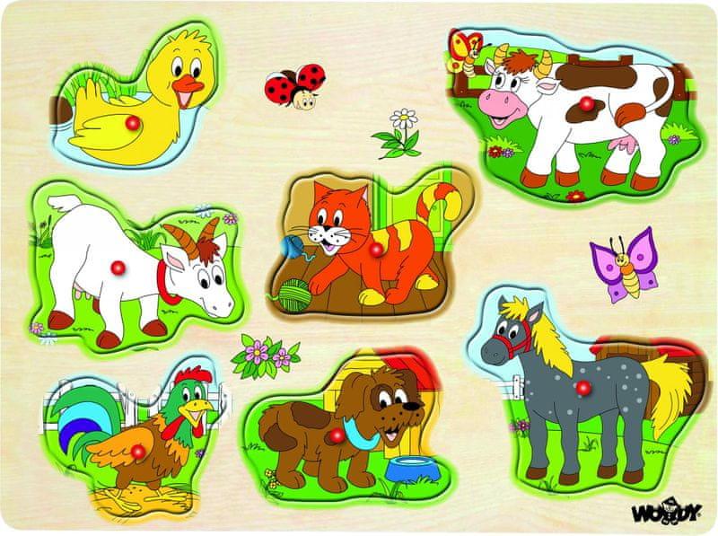 """Woody Muzikální puzzle """"Domácí zvířata"""""""
