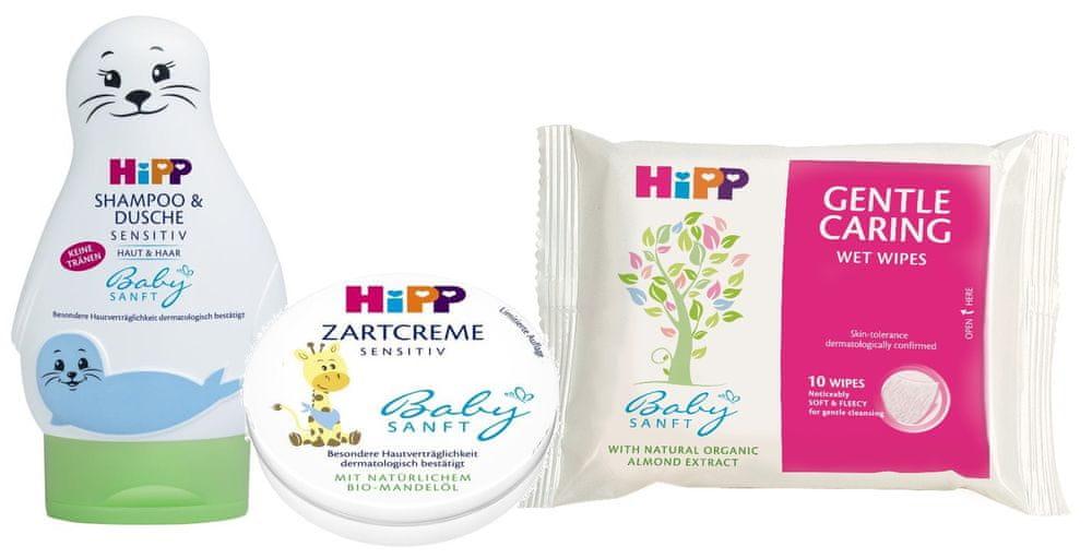 HiPP Babysanft Péče o tělo + Ubrousky zdarma