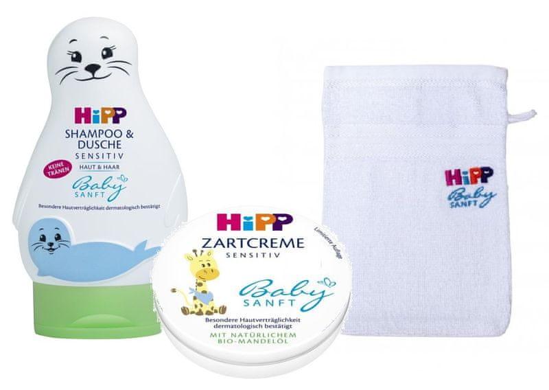 HiPP Babysanft Péče o tělo + Žínka zdarma